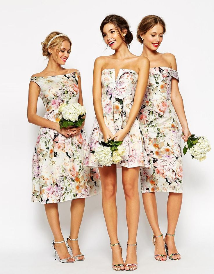 15 Must-see Patterned Bridesmaid Dresses Pins | Floral bridesmaid ...