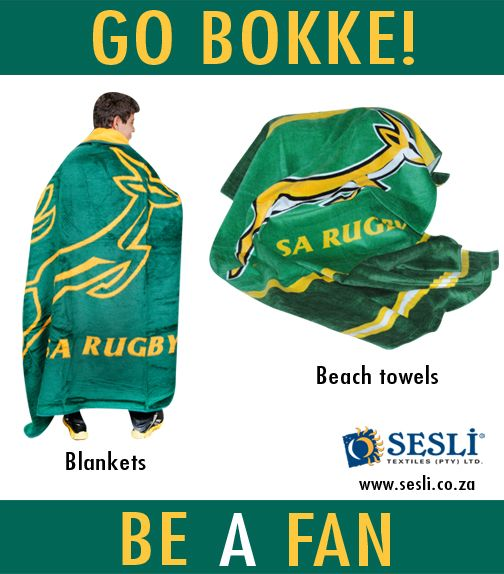 Pop in to our factory shop and purchase SA Rugby memorabilia.  Enjoy the game this weekend in your green and gold!