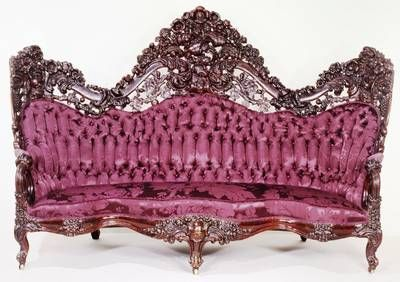 Rococo Revival sofa by John Henry Belter, carved solid and laminated rosewood, with varnished chestnut or oak strengthening blocks, American, ca. 1856