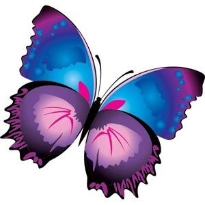 abstract glossy cute blue and purple butterfly wallpaper vector ...