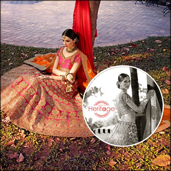 Exciting new #Lehenga  collection is now out! Log on today to shop for these stunning #Lehengas in gorgeous colours at http://goo.gl/rDD6VT. #deepkalasilk