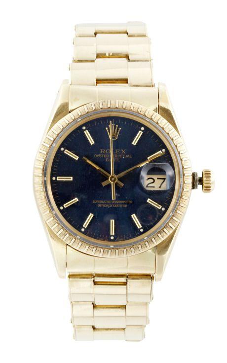 Vintage Rolex Date 14K Yellow Gold Rivet by CMT Fine Watch and Jewelry Advisors - Moda Operandi