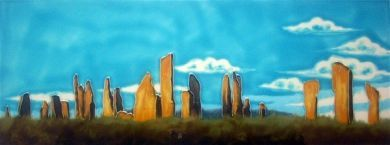 Callanish Stones 6x16 tile   Backsplash for basin?