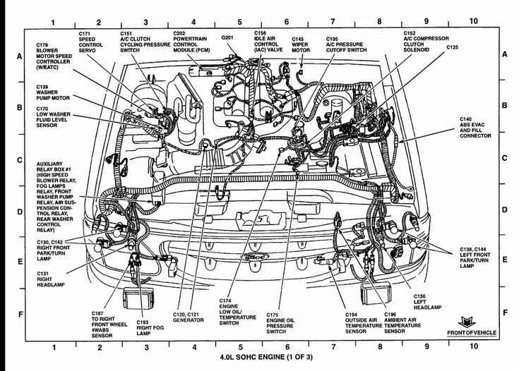 6 Ford Focus Engine Parts Diagram di 2020