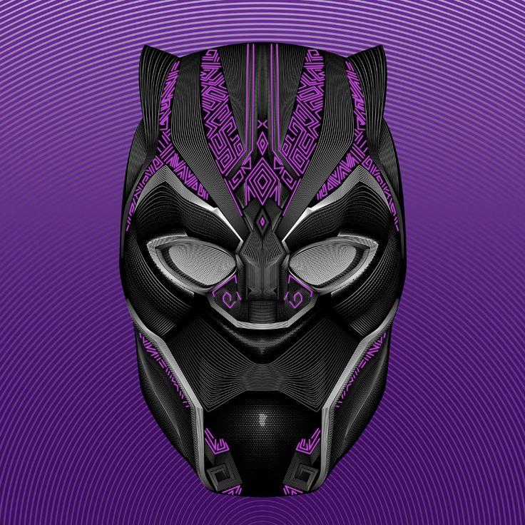 Black Panther Vector Line Blend Illustration on Behance