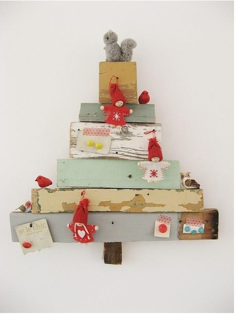 lovely wooden Christmas tree | Christmas | Pinterest