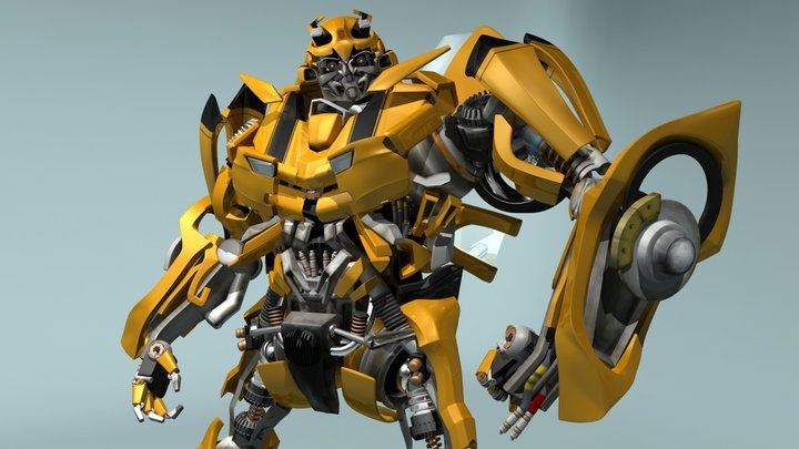 Attempt at Bumblebee 2  #Modelling #Animation #Bumblebee #Robots #Transformers