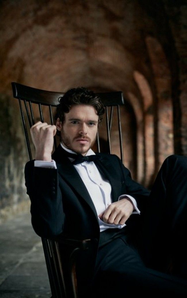 The gorgeous Richard Madden, who portrays The King in the North, Robb Stark.  Game of Thrones