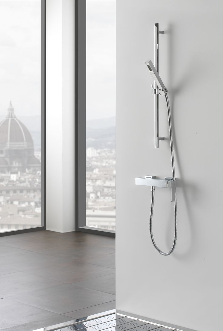 Lamp graff bathroom faucets - Shower Column With Hand Shower Qubic Collection By Graff Europe West