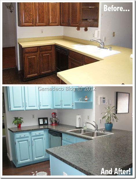 Renovar cocina pintando muebles DIY