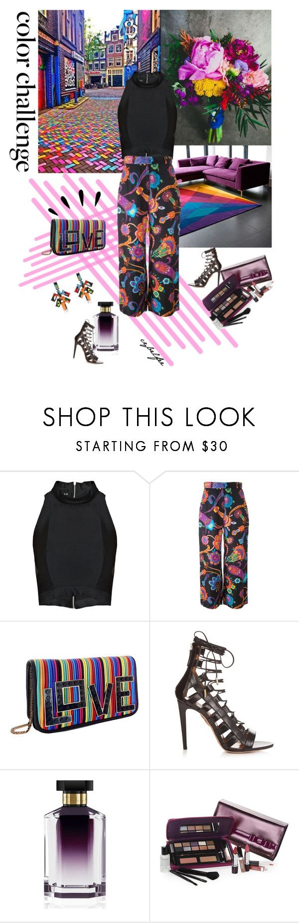 """""""Color challenge"""" by cybelfee on Polyvore featuring Paper London, Moschino, Les Petits Joueurs, Aquazzura, STELLA McCARTNEY, Elizabeth Arden, Tom Binns, Old Navy and polyvoreeditorial"""