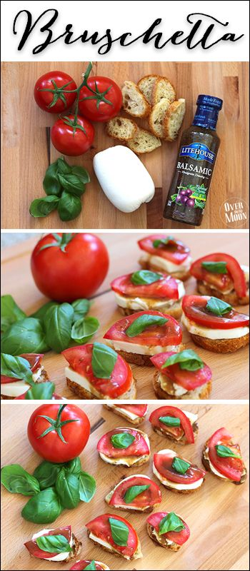 Easy Bruschetta - makes the perfect appetizer, side dish or even meal!  From overthebigmoon.com!