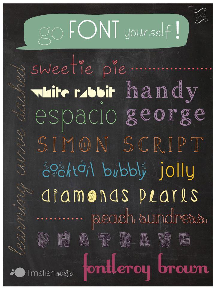 Limefish Studio: Go Font Yourself No. 2 // Free Font Downloads // #Fonts