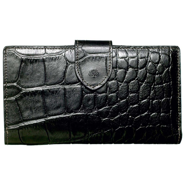 Cheap Mulberry 8 Card Wallet Printed Leather Chocolate