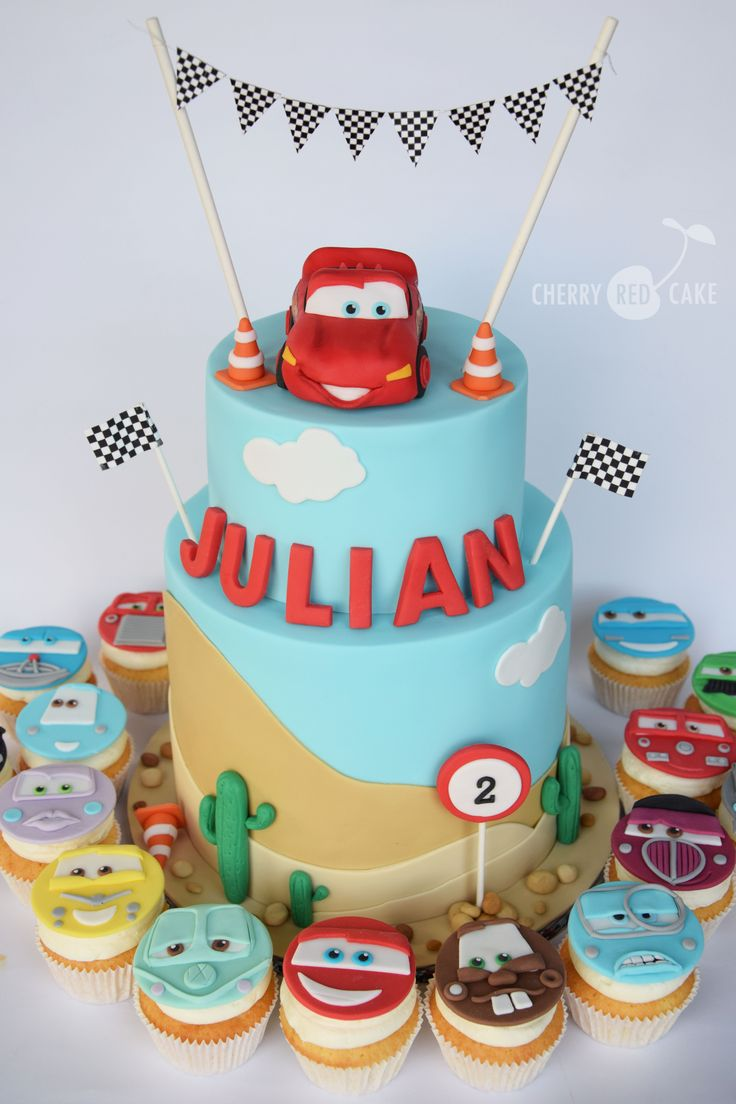 how to make lightning mcqueen cupcakes