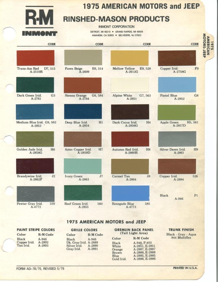 C C C Eb D D Paint Colors Colour on 1973 Plymouth Barracuda