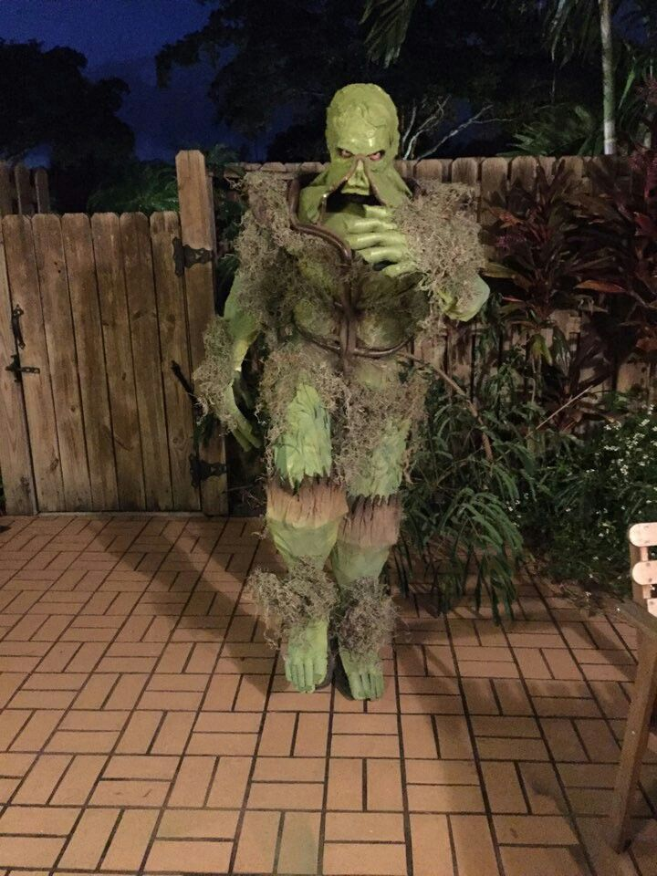 Diy Swamp Thing Halloween Costume Diy Halloween Costumes