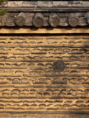 Tiles in Mud Wall #japan