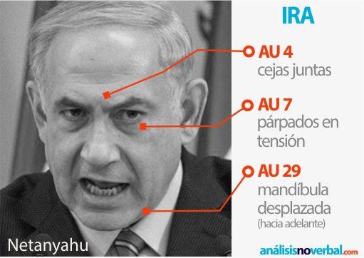 Emoción básica de ira. Benjamin Netanyahu