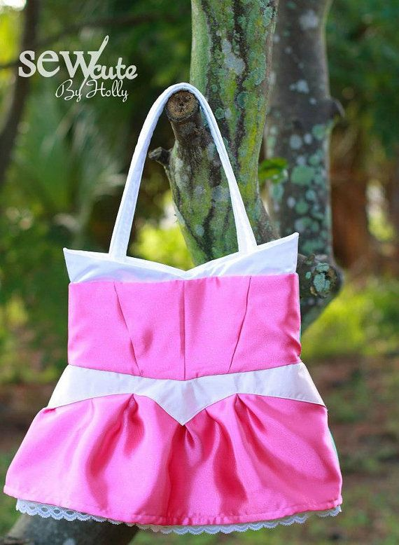 Disney's Aurora Inspired Tote  Med by SewCutebyHolly on Etsy, $40.00