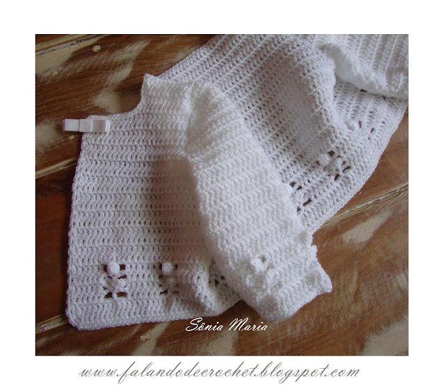falando de crochet casaquinho de croche para bebe ponto flor delicada 2