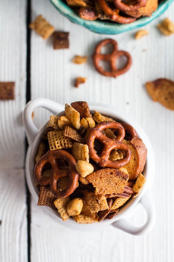 Mom's Secret Christmas Eve Chex Mix | halfbakedharvest.com