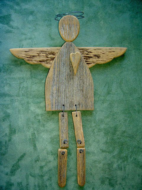 These angels are made of Old Barn Wood. All parts, such as hair, arms, legs and hangers are made from aged wire. They have a hoop in back to hang or they can be used for decoration.  Love Angel - measures about 12 3/4 tall x 9 1/4 wide with a heart and 2 piece legs.  Mother Angel - measures about 13 tall x 11 wide with a heart and 1 piece legs.  Country Angel - measures about 10 tall x 9 1/2 wide and has a hanger from wing to wing with no legs.    Payment:  We accept PayPal.    Please note…