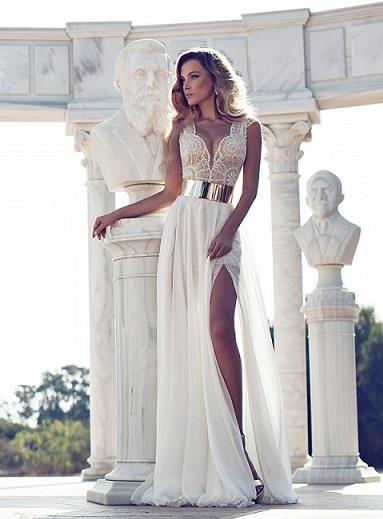 Москва свадебное платье с разрезом