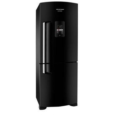 Refrigerador | Geladeira Brastemp Inverse All Black Frost Free 2 Portas 422 Litros Preto - BRE50NE