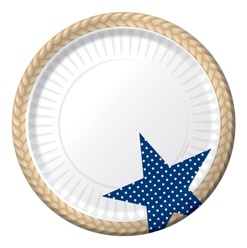 Patriotic Picnic Plates + Hand full of fireworks = _____  #fun #IndependenceDay