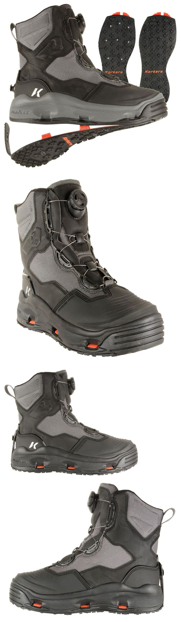 Boots and Shoes 179980: Size #12 Korkers Darkhorse Wading Fishing Boot, Studded +Kling-On Soles -> BUY IT NOW ONLY: $199.95 on eBay! #FishingBoots