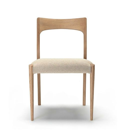 modern timber upholstered dining chair