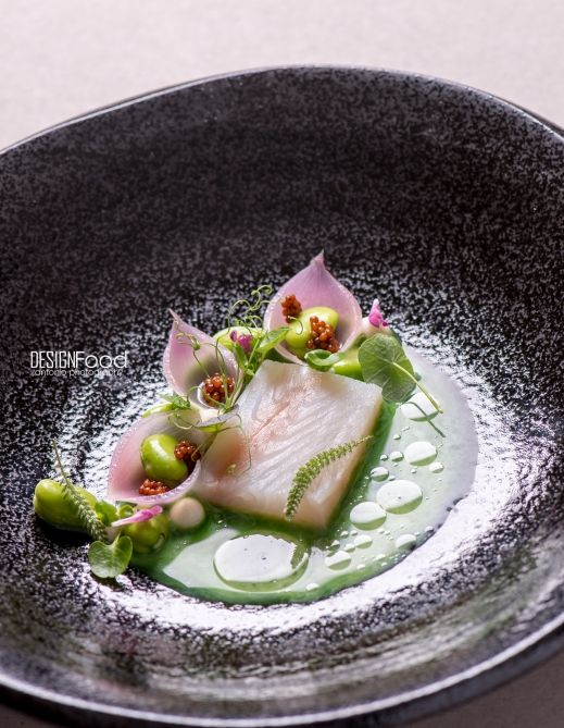 Pike perch pickled onions, wild garlic juice - Design Food by Antonio photography ! More