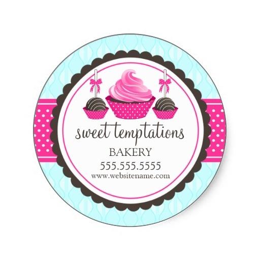 Personalized Cake Box Stickers