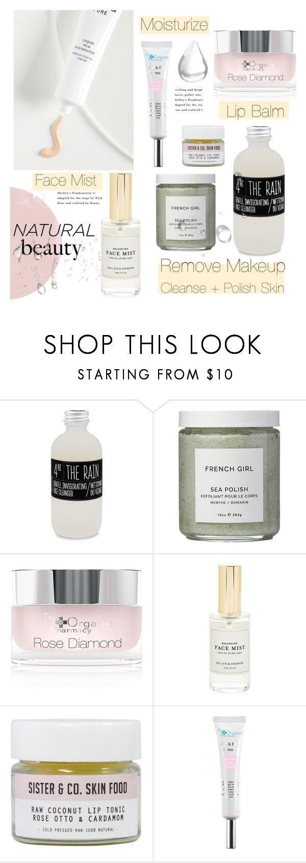 """""""#minimalistbeauty"""" by hellodollface ❤ liked on Polyvore featuring beauty, Belmondo, French Girl, The Organic Pharmacy, Mullein & Sparrow, Sister & Co., Free People and minimalistbeauty"""