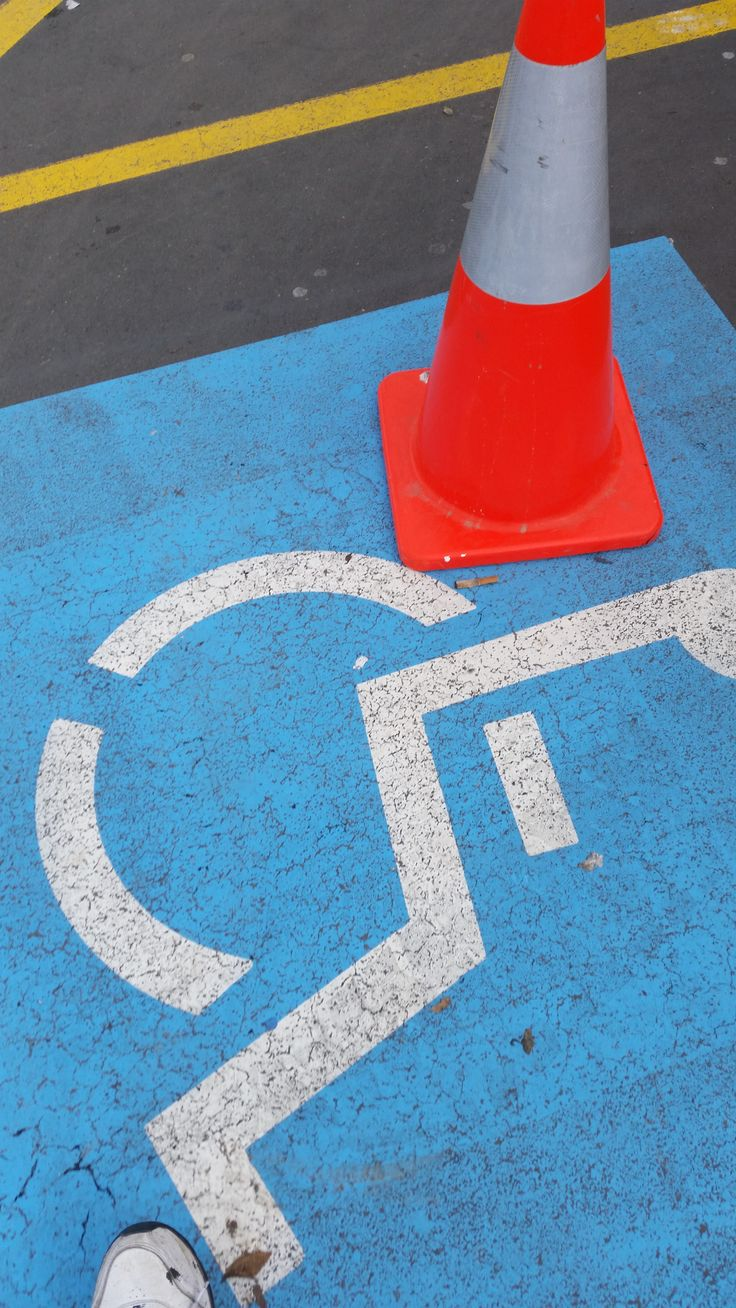 disabled carpark watch cone