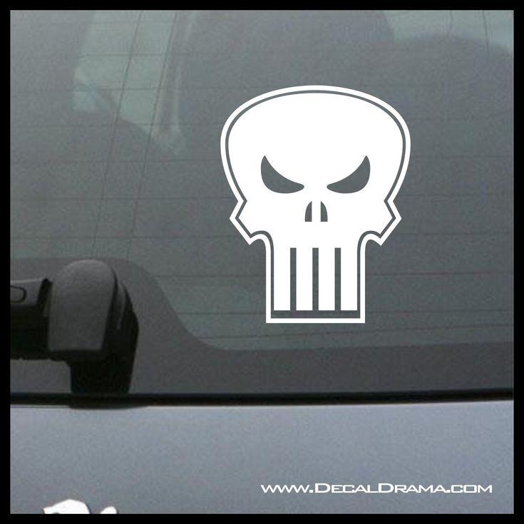 Punisher Skull, Marvel Comics-Inspired Anti-Hero Fan Art Vinyl Car/Laptop Decal