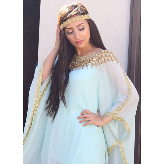 Pure silk  Eid ramadan bridal henna Dubai kaftan by YaraYosif