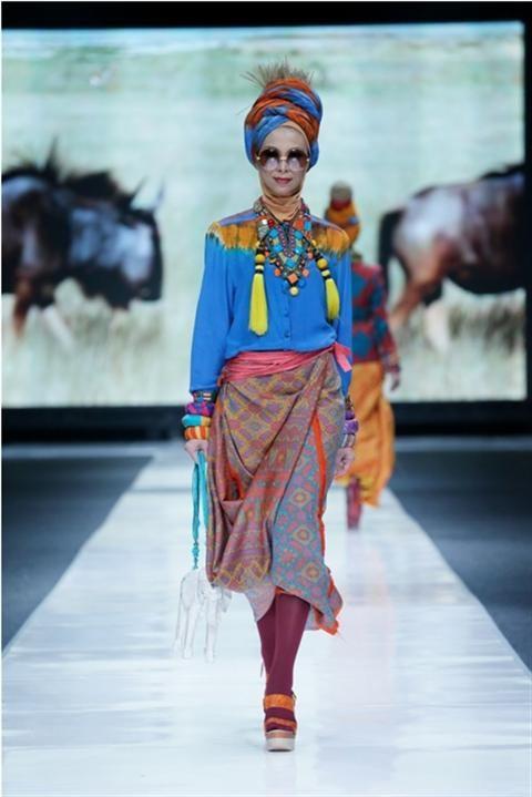 Jakarta Fashion Week 2012-2013..Designer Dian Pelangi. Fashion designer from Indonesia