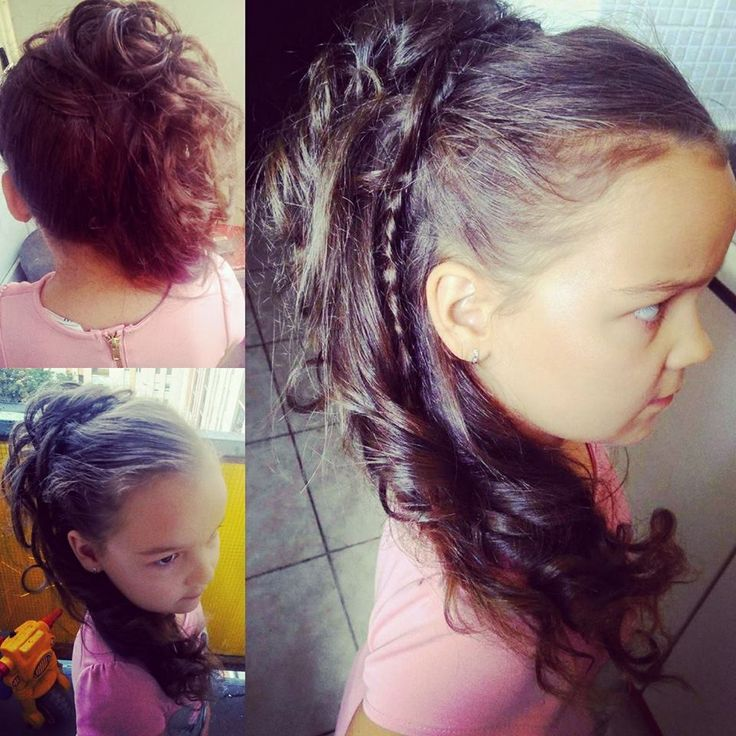 Little girls wedding hairstyle