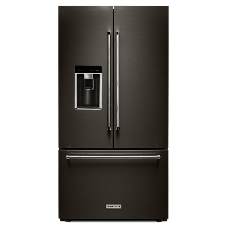 Kitchenaid 238 cu ft french door refrigerator in black