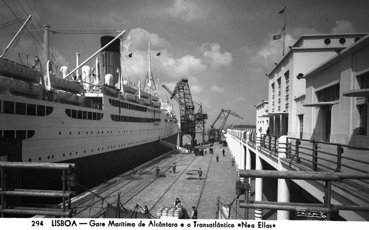 Gare maritima de Alcântara , 1959, António Passaporte. PT/AMLSB/PAS/001747