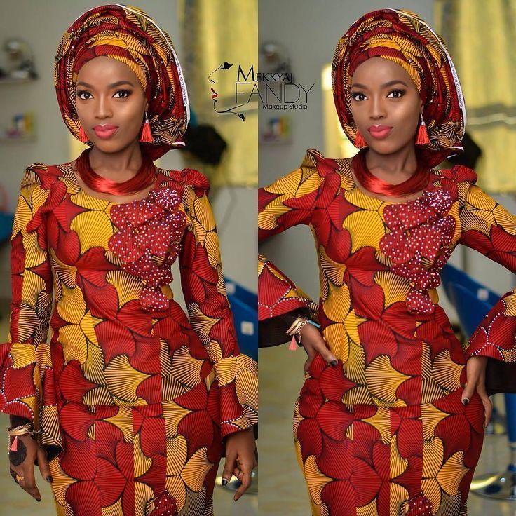 """834 Likes, 2 Comments - Ms Asoebi (@ms_asoebi) on Instagram: """"Beautiful wedding guest ❤️ Makeup @mekkyaj_fandy"""""""