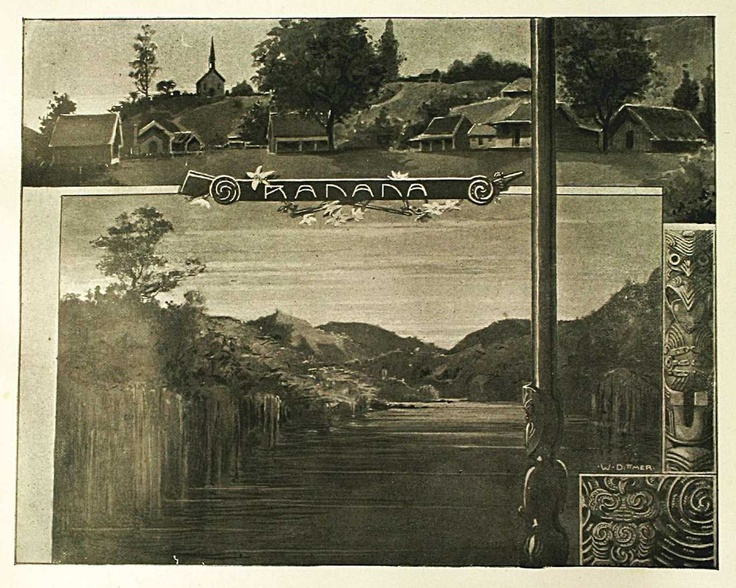 Reflections: Sketches on the Wanganui River, by Wilhelm Dittmer