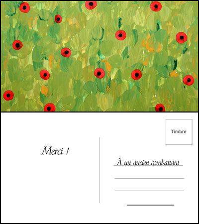Créez des carte postales inspirées par l'oeuvre de Monet et envoyez-en à un vétéran.   #coquelicot #bleuet #Animassiettes #souvenir #cartepostale #Monet #tutorial #veteran #DIY #video