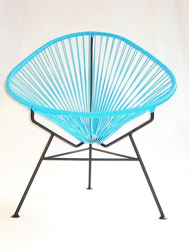 Acapulco chair. #chairDesign Chairs, Design Ideas, Innit Design, Outdoor Chairs, Chairs Innit, Acapulco Chairs, Innitdesign, Chairs Blue, Chairs Inspiration