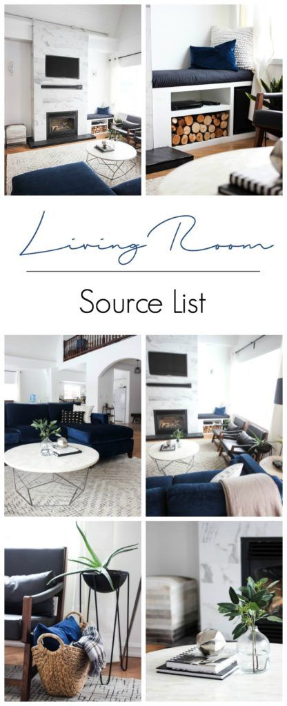 A great collection of Living Room Must-Haves for your home! A full source list of the products used in our recent living room renovation - including all those great products you keep asking about!