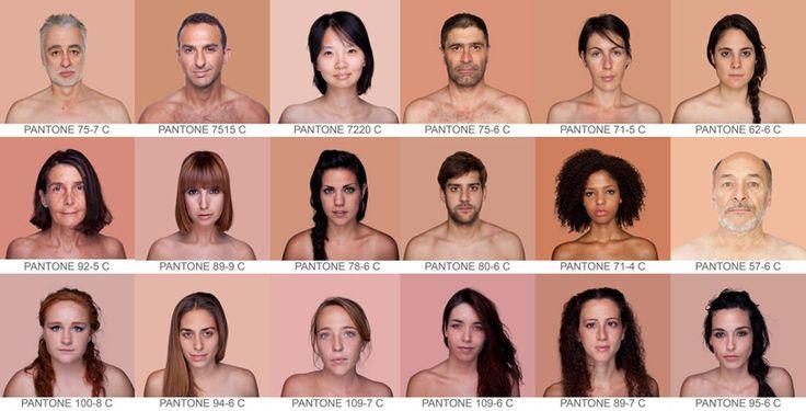 Reference: Pantone skin color spectrum
