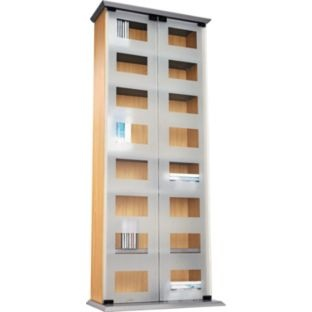 Buy New York Frosted Glass Double Door DVD And CD Media Unit At Argos.co