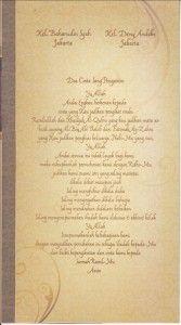 Undangan Pernikahan Unik Hepi 219 belakang lipat 3